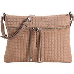 Max Studio Tash Solid Quilted Crossbody Handbag