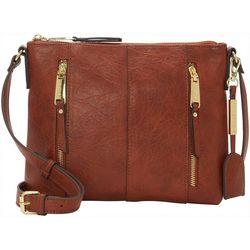 Max Studio Zipper Pockets Crossbody Handbag