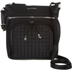 Max Studio Tash Black Quilted Crossbody Handbag