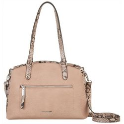 Ahlly Snakeskin Detail Shoulder Handbag
