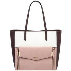 Nine West Pink Colorblock Devanna Tote Handbag