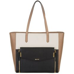 Nine West Black Colorblock Devanna Tote Handbag