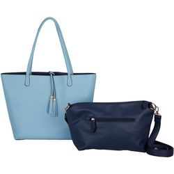 Imoshion Reversible Faux Leather Bag-In-a Bag Tote Handbag