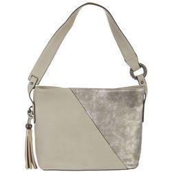 SR2 Metallic Colorblock Hobo Handbag
