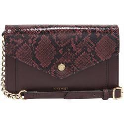 Nine West Kate Snake Print Wallet Crossbody Handbag