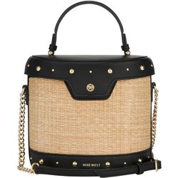 Norah Natural Studded Crossbody Handbag