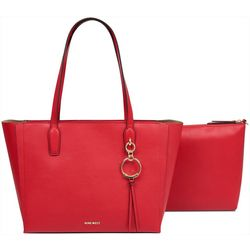 Nine West Ring Leader Large Solid Tote Handbag