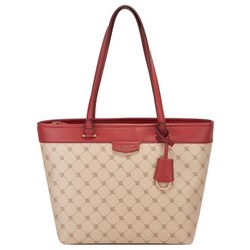 Nine West Nala Colorblock Monogram Tote Handbag