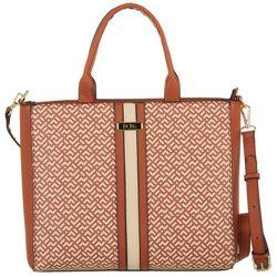 BCBG Karla Signature Stitch Tote Handbag