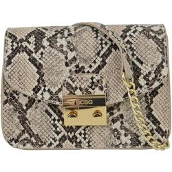 BCBG Milly Snakeskin Print Crossbody Handbag