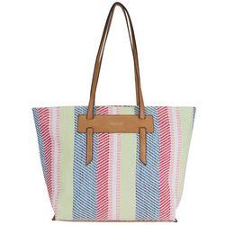 Nautica West Palm Striped Pattern Tote Handbag