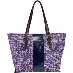 Nautica Seaworthy Printed Tote Handbag