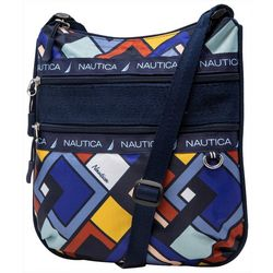 Nautica Captain's Quarters Flat Linked Geo Crossbody Handbag