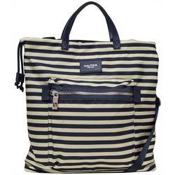 Nautica Armada Formation Stripes Tote Handbag