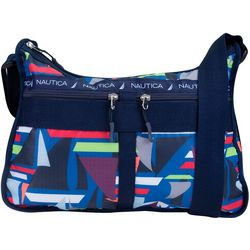 Nautica Captain's Quarters Sailboat Print Hobo Handbag