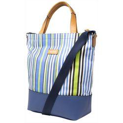 Nautica Marine Stripe Clipper Tote Handbag