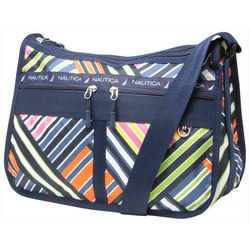 Nautica Captain's Quarters Stripes Hobo Handbag
