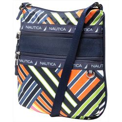 Nautica Captain's Quarters Flat Stripes Crossbody Handbag