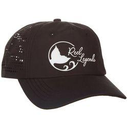 Reel Legends Womens Black Laser Cut Hat