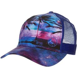 Reel Legends Womens Midnight Paradise Coast Trucker Hat