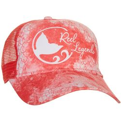 Reel Legends Womens Dyed Fish Scale Print Trucker Hat