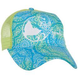Reel Legends Womens Watercolor Mandala Print Trucker Hat