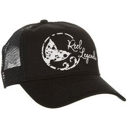 Reel Legends Womens Distressed Logo Trucker Hat