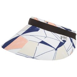 Coral Bay Golf Womens Sketch Geometric Print Visor