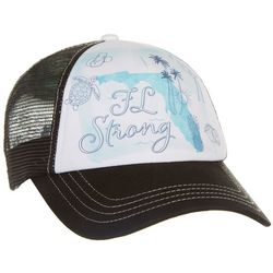Florida Strong Womens FL Map Printed Trucker Hat