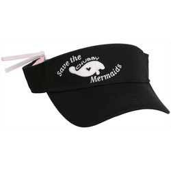 Chubby Mermaids Womens Save The Chubby Mermaids Visor