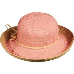 Scala Womens Crown Crush Raffia Sun Hat