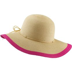 Scala Womens Colorblock Trim Floppy Sun Hat