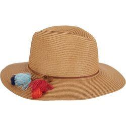 Scala Womens Colorful Tassel Safari Hat
