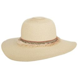 Scala Womens Fringe Ribbon Sun Hat