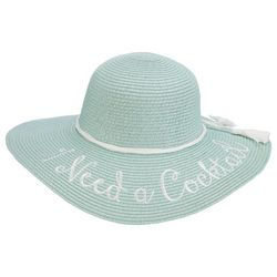 Scala Womens I Need A Cocktail Floppy Hat