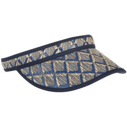 Twig And Arrow Womens Geometric Straw Visor