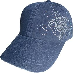 Alabama Girl Womens Rhinestone Sea Turtle Hat