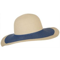 Mad Hatter Womens Contrast Brim Floppy Sun Hat