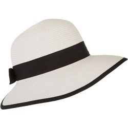 Mad Hatter Womens Contrast Trim Framing Sun Hat