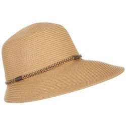 Mad Hatter Womens Braided Band Face Framing Sun Hat
