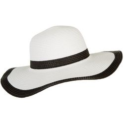 Mad Hatter Womens Solid Trim Floppy Hat