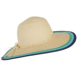 Madd Hatter Womens Multi-Color Straw Floppy Hat