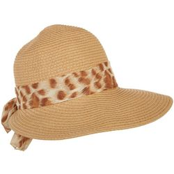 Mad Hatter Womens Leopard Print Scarf Band Hat