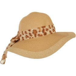 Mad Hatter Womens Animal Print Band Floppy Hat