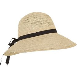 Mad Hatter Womens Solid Ribbon Trim Bucket Hat