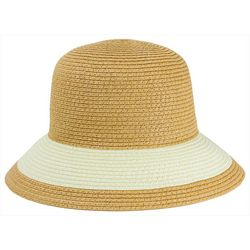 Mad Hatter Womens Toast Ivory Colorblock Hat