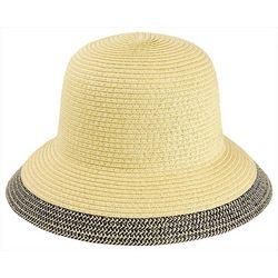 Mad Hatter Womens Black & Beige Trim Hat