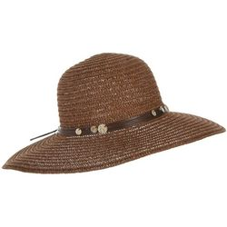 Mad Hatter Womens Shell Discs Band Woven Sun Hat