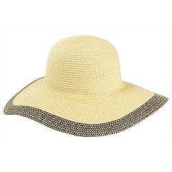 Mad Hatter Womens Contrast Trim Floppy Sun Hat