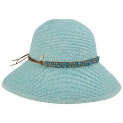 Capelli Womens Beaded Down Turn Sun Hat
